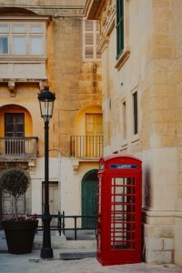 Red Phone booth in Valletta, Malta's capital