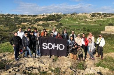 soho members at a hiking tour